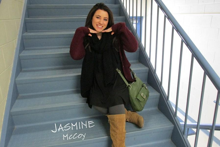 Jasmine McCoy is known as many things, including the girl who dyes her hair cool colors.