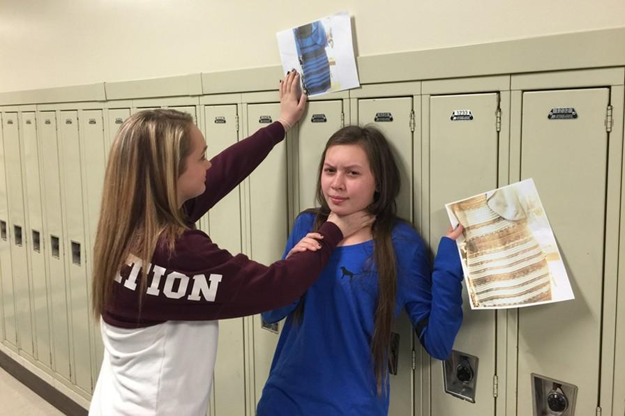 Was it blue and white or black and gold?  That was the controversial question last week when students like Alexis Gerwert and Tina Hollen were ready to throw down over what they saw.