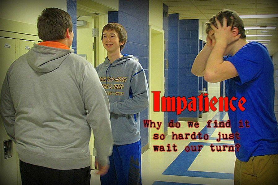 Waiting to get into your locker while friends chat - one more excuse kids find to get impatient and frustrated.
