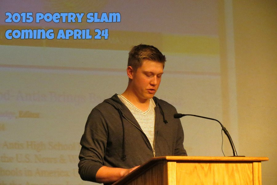 Sawyer Klines love poem to his dog was one of the highlights of the 2014 Poetry Slam.