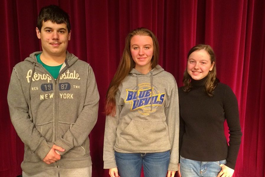 Zac Salomie (third), Caroline Taylor (second) and Brande Robison (first) were the winners at the 2015 Slam.