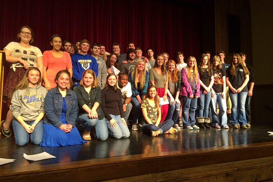 Nearly 40 students presented poems to the student body at the annual Poetry Slam.