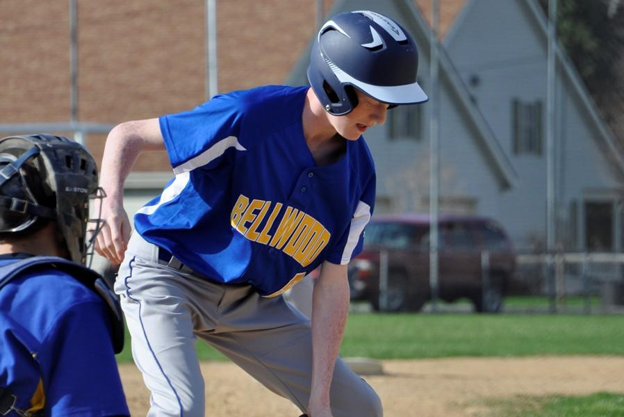 Sophomore Nevin Wood was dealing on Monday against St. Joes.