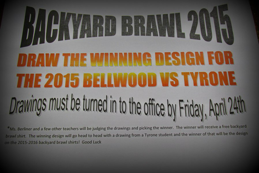 Backyard Brawl T-Shirt designs must be submitted soon.