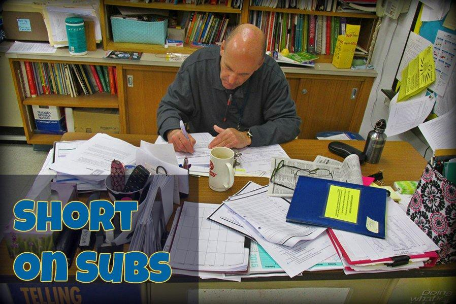 Mr. Cites is one of the frequent substitutes seen at Bellwood-Antis, but the list of reliable subs is shrinking here and nationwide.