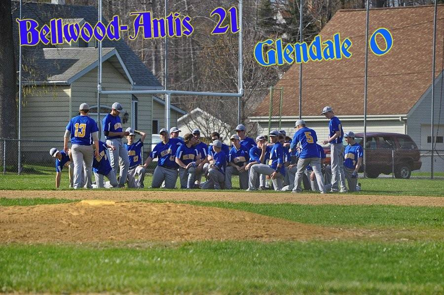 B-A rolled over Glendale for the second time this season, winning 21-0 yesterday at home.