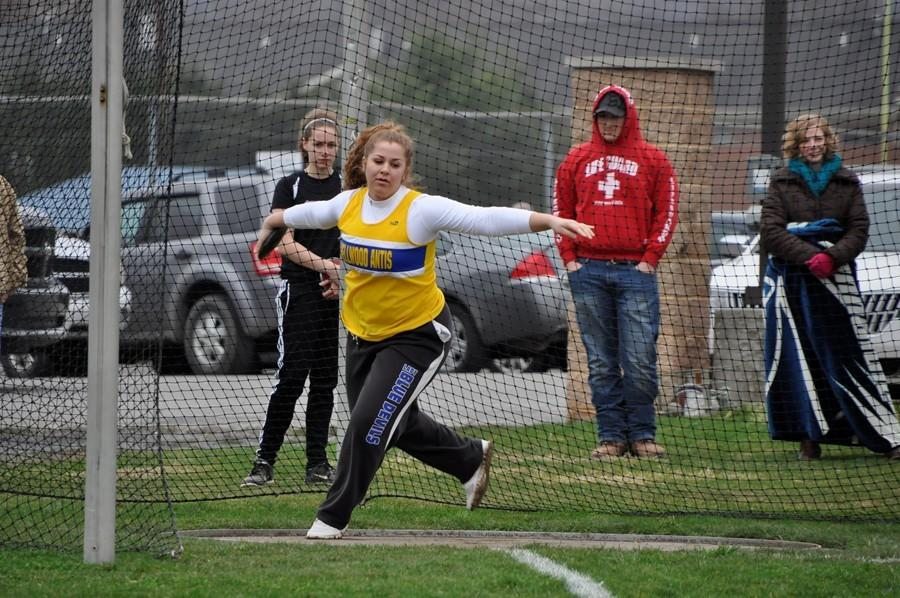 Senior Selena Damiano continued to dominate in the field yesterday in a meet against West Branch and Tyrone.