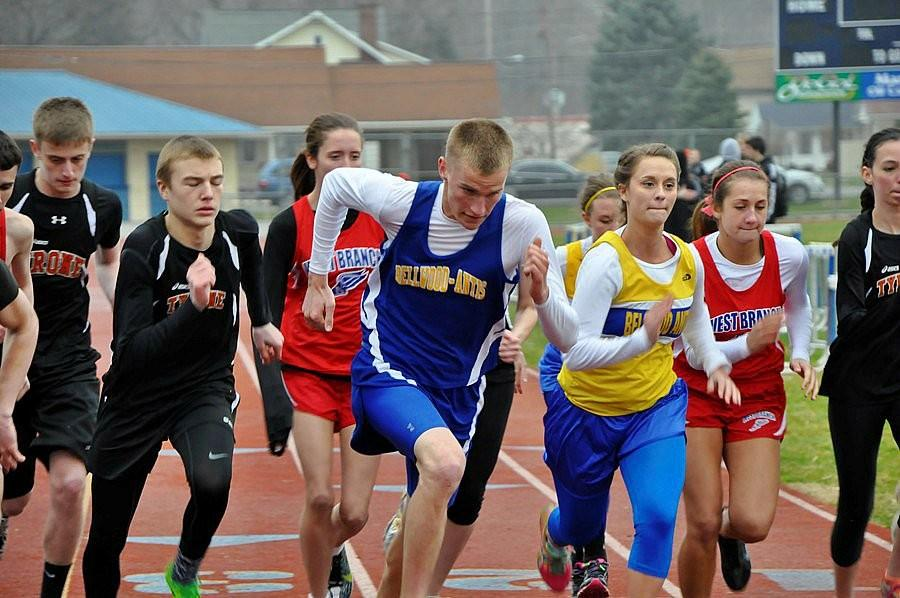 Isaac Mills placed third yesterday in the 1600 run.
