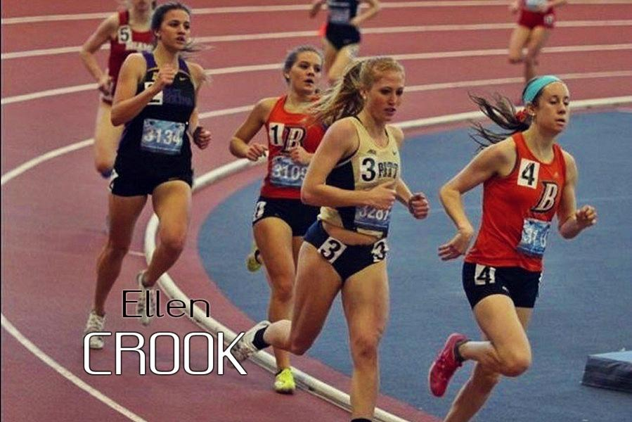 Ellen Crook has had an incredible freshman year running at Pitt, including a spot on a record-setting relay team.