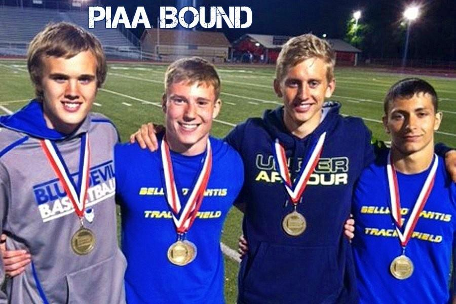 B-A track team members bring home medals.