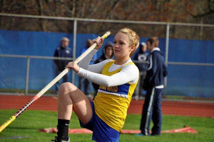 Freshman Alexis Gerwert won the girls pole vault at the ICC Meet, and the boys team came home with the team title.