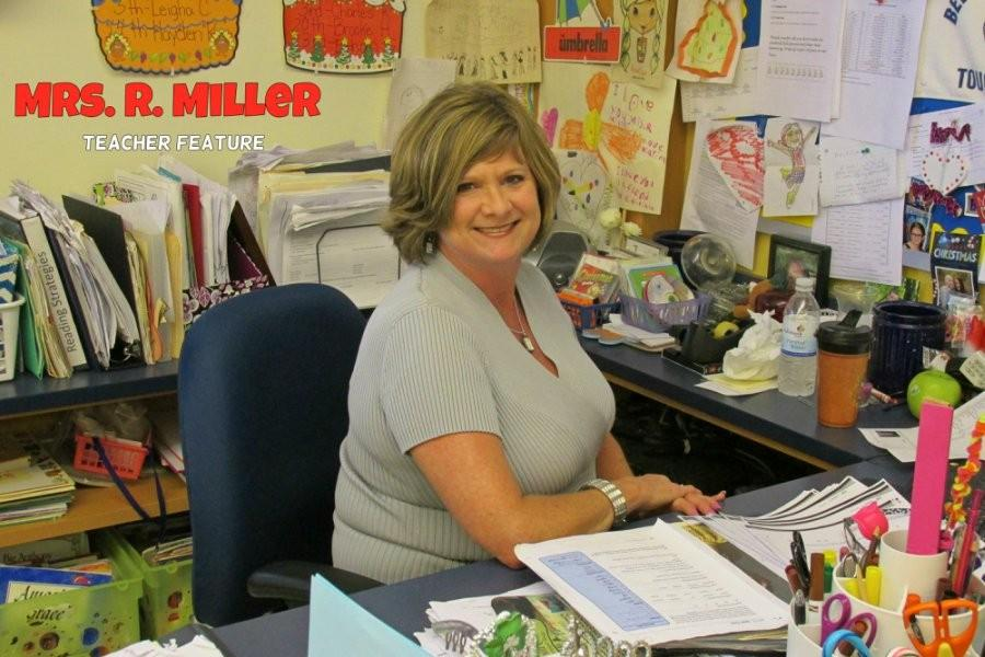 Mrs. Robin Miller is that motherly teacher selling education to her kids.