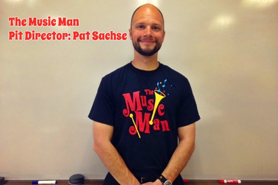 Mr. Sachse is the pit conductor for this year's production of The Music Man.