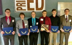 B-A students taking home honors from the Greater Altoona Career and Technology Center awards ceremony were (l to r): Hunter McCracken, Jesse Branstetter, Kaleb Garmen, Scott Pearce and Max Leskowitz.