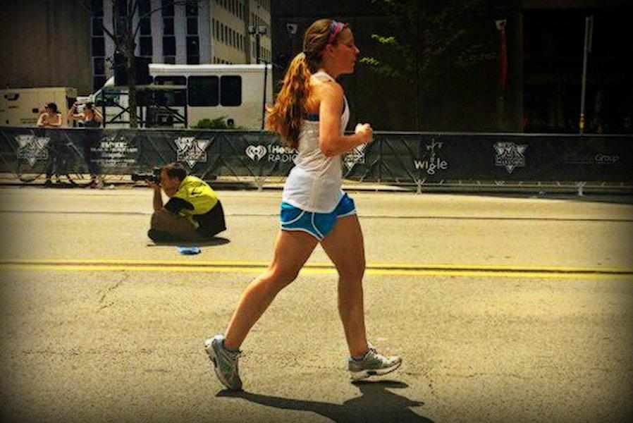 Hannah Claar, B-A Class of 2012, was one of a small contingent of runners with Bellwood ties to run in the Pittsburgh Marathon.