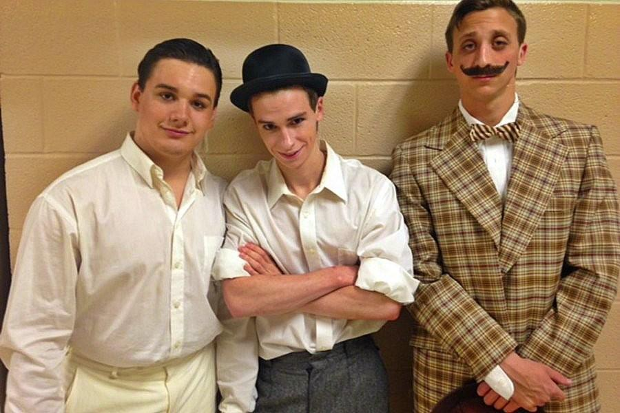 Revel Southwell, Lucas Tuggy and Aaron Mogle are three of the leading men in the Bellwood-Antis production of The Music Man.
