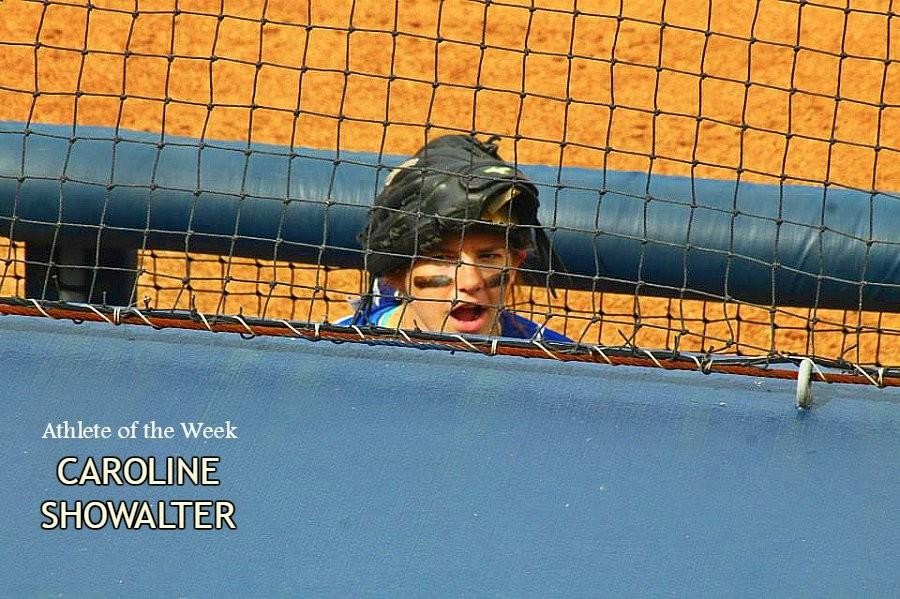 Caroline+Showalter+brings+clutch+hitting+and+a+little+bit+of+comic+relief+to+the+softball+team.