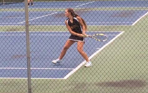 Sophomore Tina Hollen won her first match of the year yesterday.