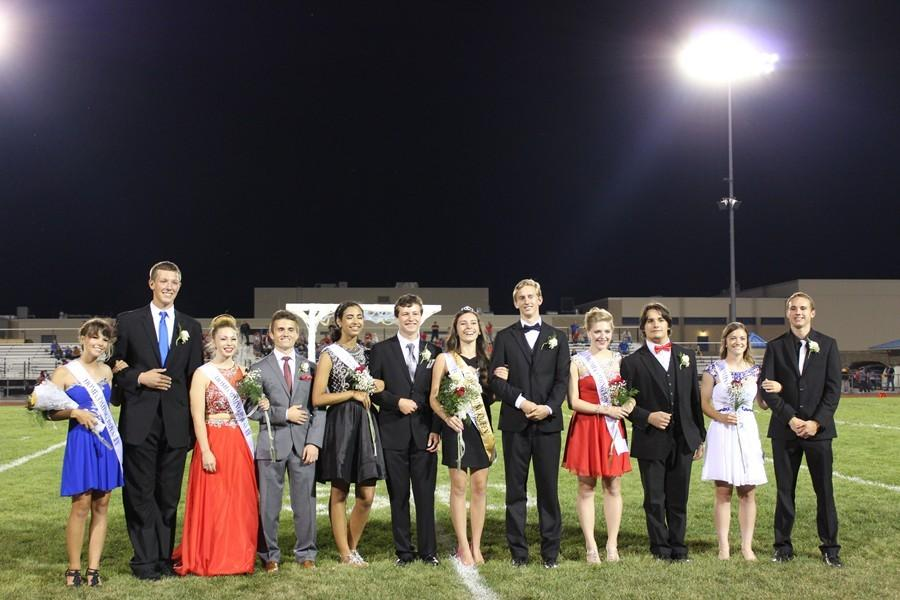 Members of the 2015 Homecoming Court .