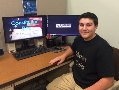 B-A sophomore Kermit Foor created a cool video about Constitution Day.