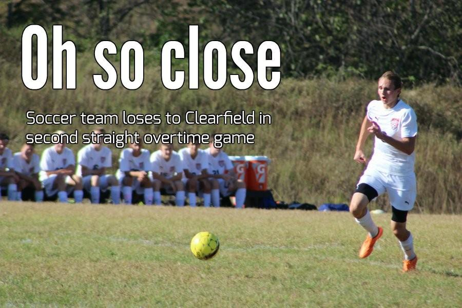 Noah D'Angelo stayed hot yesterday with two goals, but the soccer team lost in overtime to Clearfield.