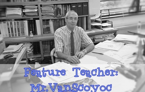 Mr. Van Scoyoc has taught at B-A since 2006, but this is the first year he has taught English.