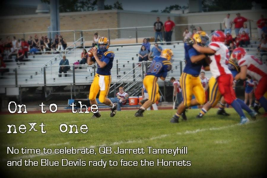 Jarrett Tanneyhill had a nice night last week in his first varsity start, and the running of Jake Burch gave the Devils offense some life.
