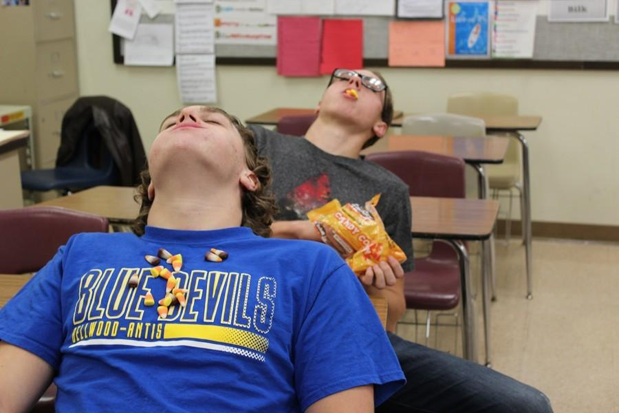 Ethan McGee and Noah D'Angelo  are two students liable to overdo it when it comes to candy corn.