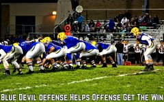 The Blue Devil offense drives down the field.