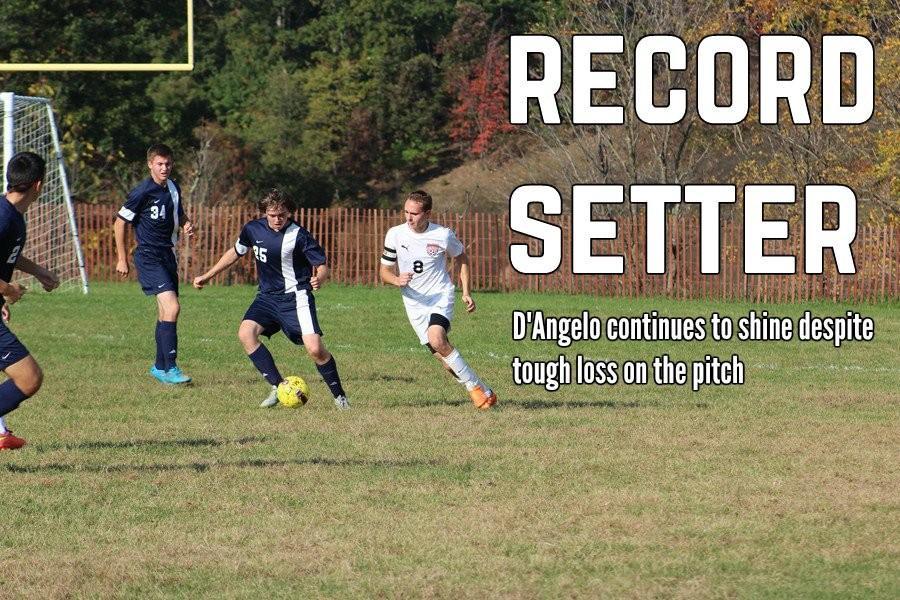 Noah D'Angelo scored his 20th goal of the season last week against Bellefonte.