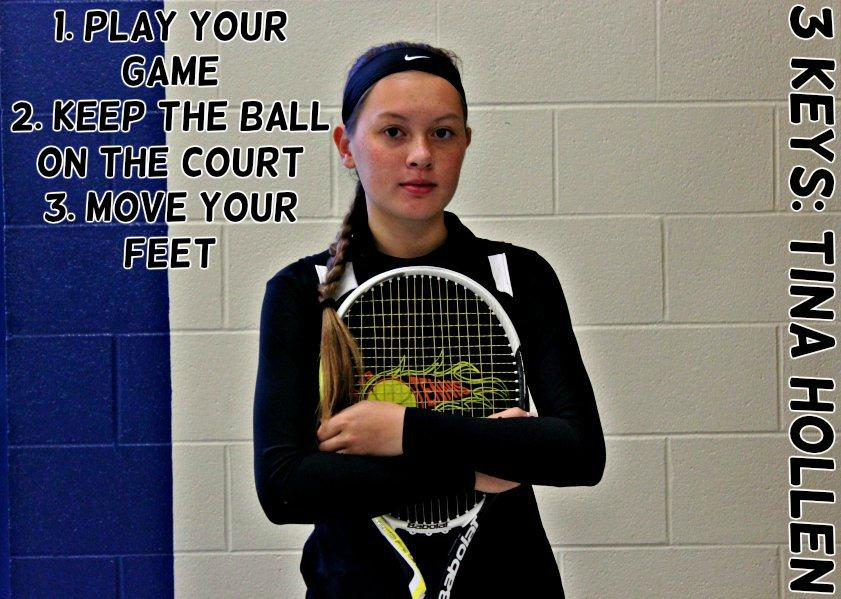 Hollen+puts+on+her+game+face+before+heading+to+Altoona+for+the+District+6-AA++singles.