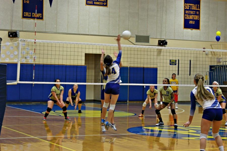The+Lady+Devils+volleyball+team+won+its+13th+game+last+night+by+taking+down+Juniata+Valley.
