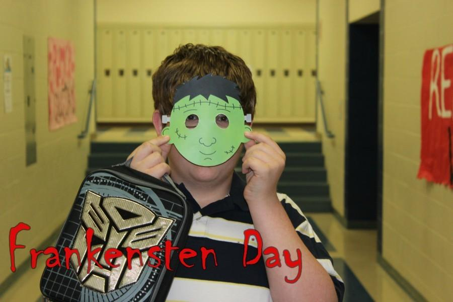 Freshman Zach Bacon was all about paying homage to Frankenstein on his special day of recognition.