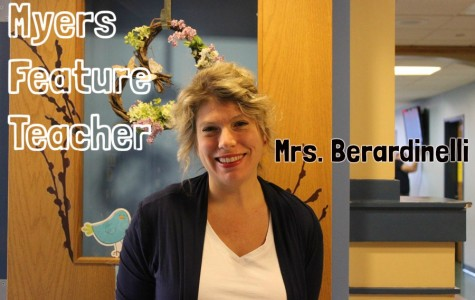 Mrs. Berardinelli is a reading specialist at Myers.