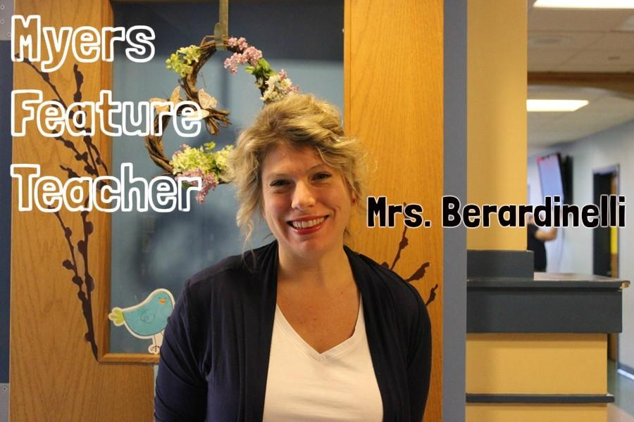 Mrs.+Berardinelli+is+a+reading+specialist+at+Myers.