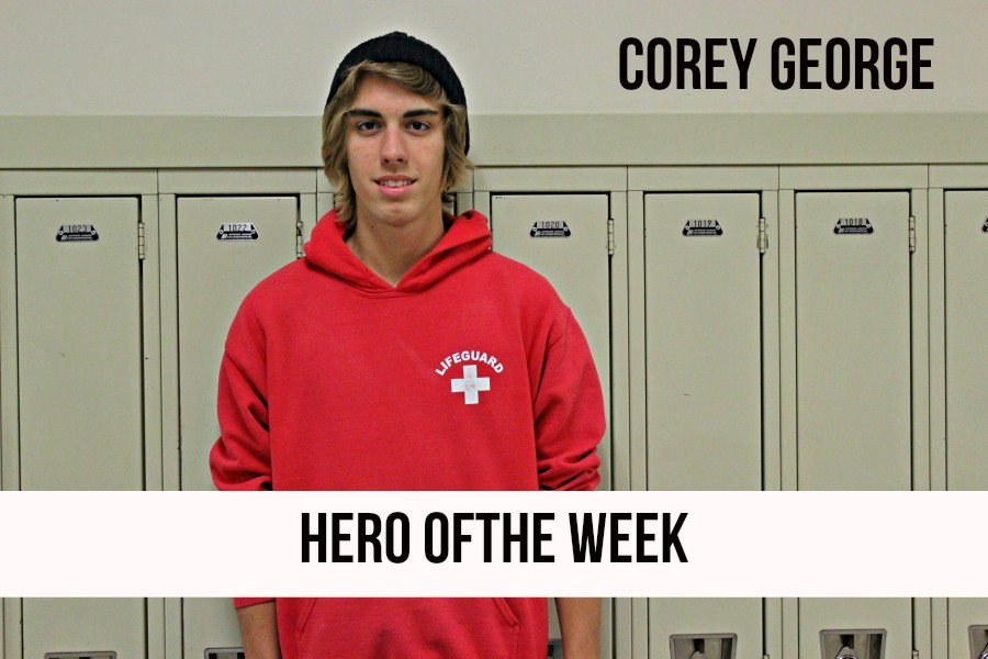 Corey George was a true hero a couple weeks ago  when he gave a double donation at the blood drive.