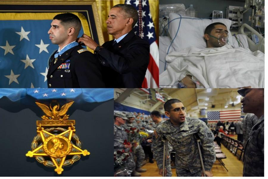 Captain Florent Groberg receives honor from President Barack Obama