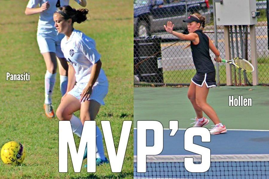 Marissa Panasiti and Tina Hollen earned top honors in the Mountain League at the recent awards banquet.