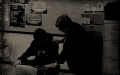 Teacher comforts student dealing with depression