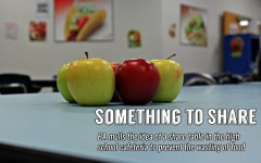 Everyday piles of apples are discarded or destroyed  in the cafeteria.