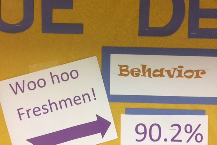 The+freshman+had+the+best+attendance+and+behavior+in+the+first+nine+weeks.