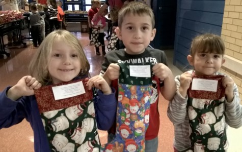 Youngsters from Myers stuffed assisted with the Stockings for Troops program last week.