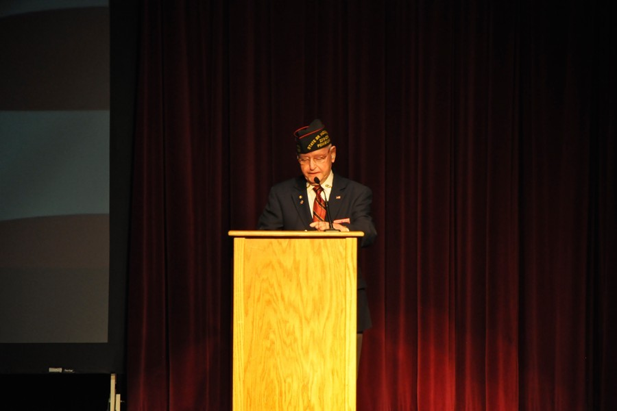 Commander+Thomas+Brown+of+the+Pennsylvania+Veterans+of+Foreign+Wars+was+the+featured+speaker+at+Monday%27s+Veterans+Day+Assembly.