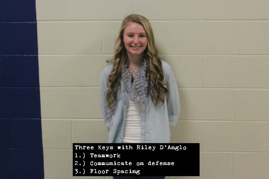 Freshman Riley DAngelo has three keys to a win tonight.