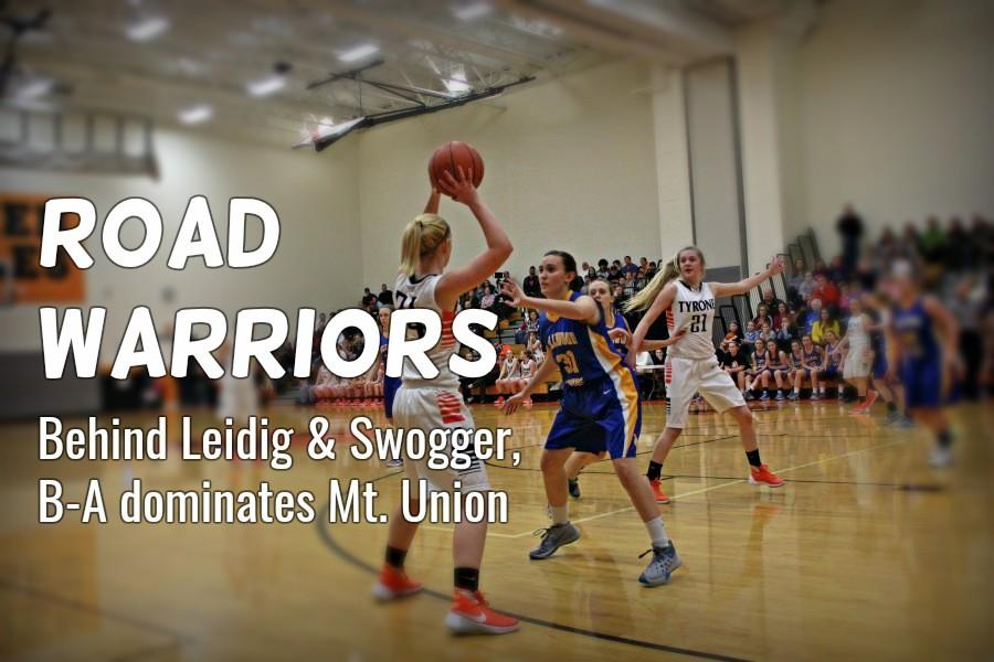 Alanna Leidig was one of two players in double figures against the Lady Trojans.