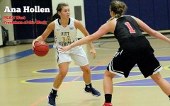 Ana Hollen finished as B-A's second all-time scorer,and now she is a starting freshman at UPJ.