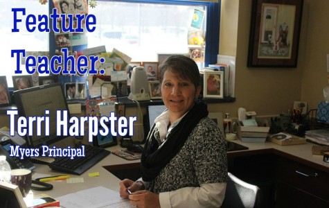 Mrs. Harpster has been the Myers principal since 2002.