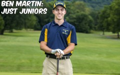 Ben Martin is a member of the golf team and one funny guy.