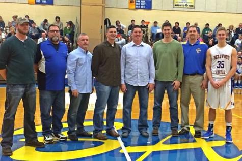Millennium Club: from left to right -Ryan Myers, Gary Hribik, Randy Geis, Kevin Conlin, Steve Conlin, Noah Davis, Brent Gerwert, and Nathan Davis.