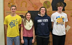 BluePrint writers Nathan Davis, Christina Kowalski, Ethan McGee, and Jarrett Taneyhill were received awards last week for their work this year as weiters and editors.